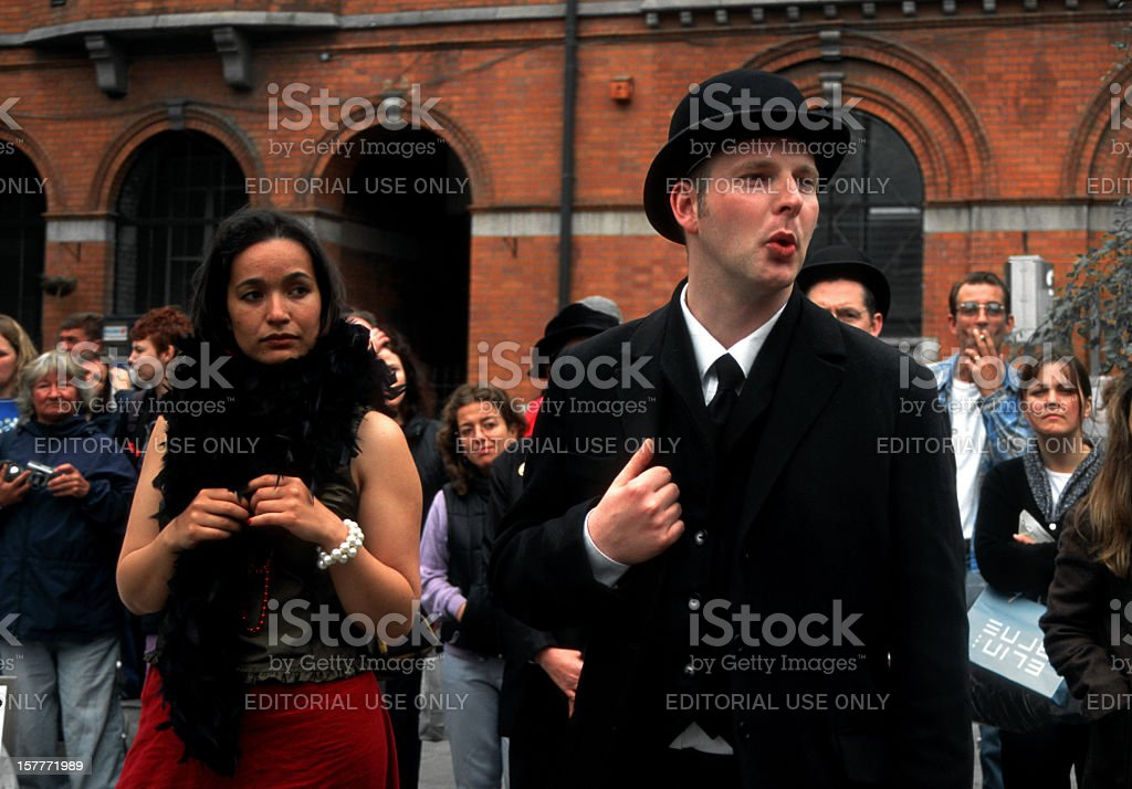 Dubliners in Bloomsday stock photo
