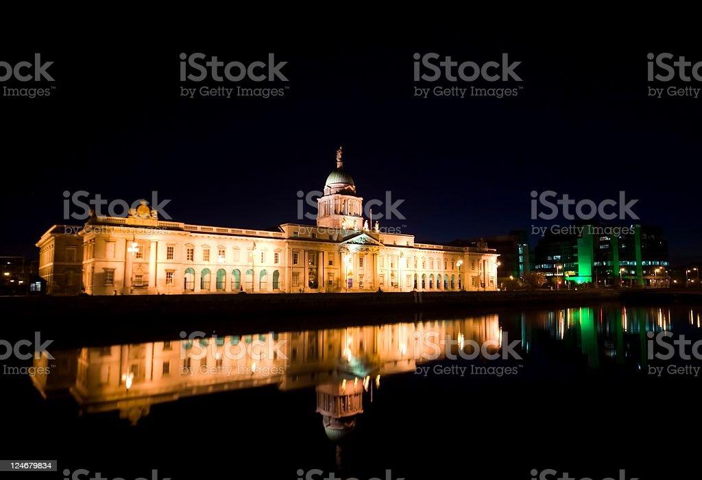 Dublins' Custom House stock photo