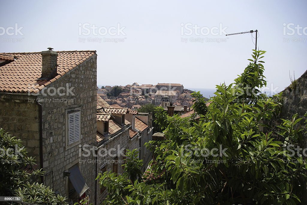Dubrovnick roofs royalty free stockfoto