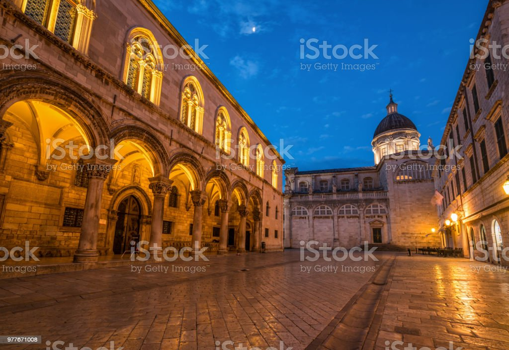 Dubrovnik Cathedral in Dubrovnik old town, Croatia stock photo