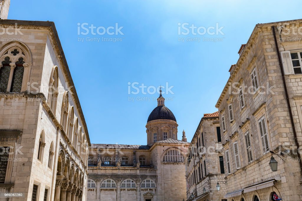 Dubrovnik Cathedral stock photo