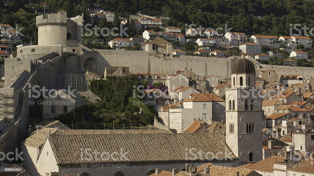 Dubrovnik city walls royalty-free stock photo