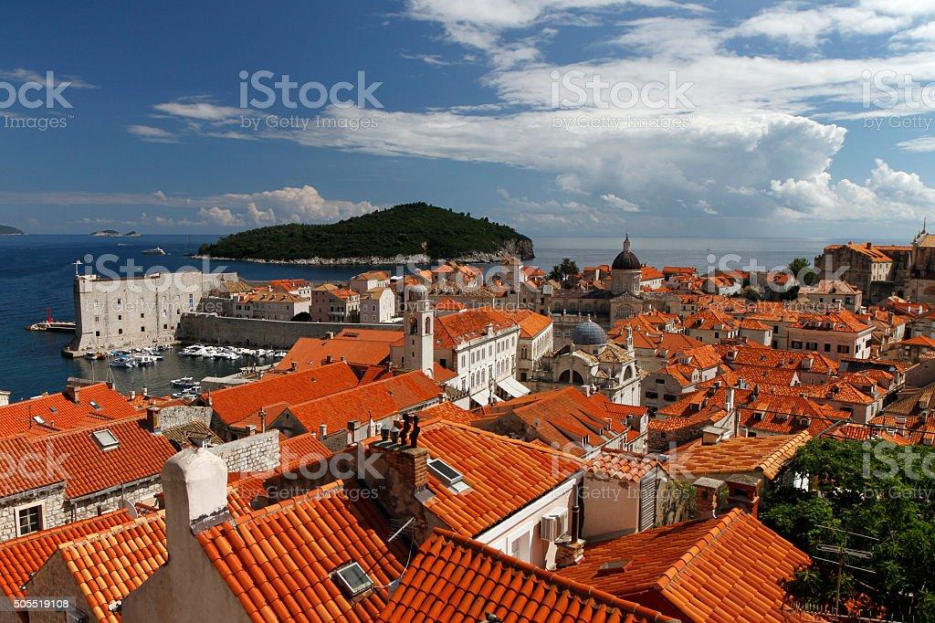 Dubrovnik cityscape stock photo