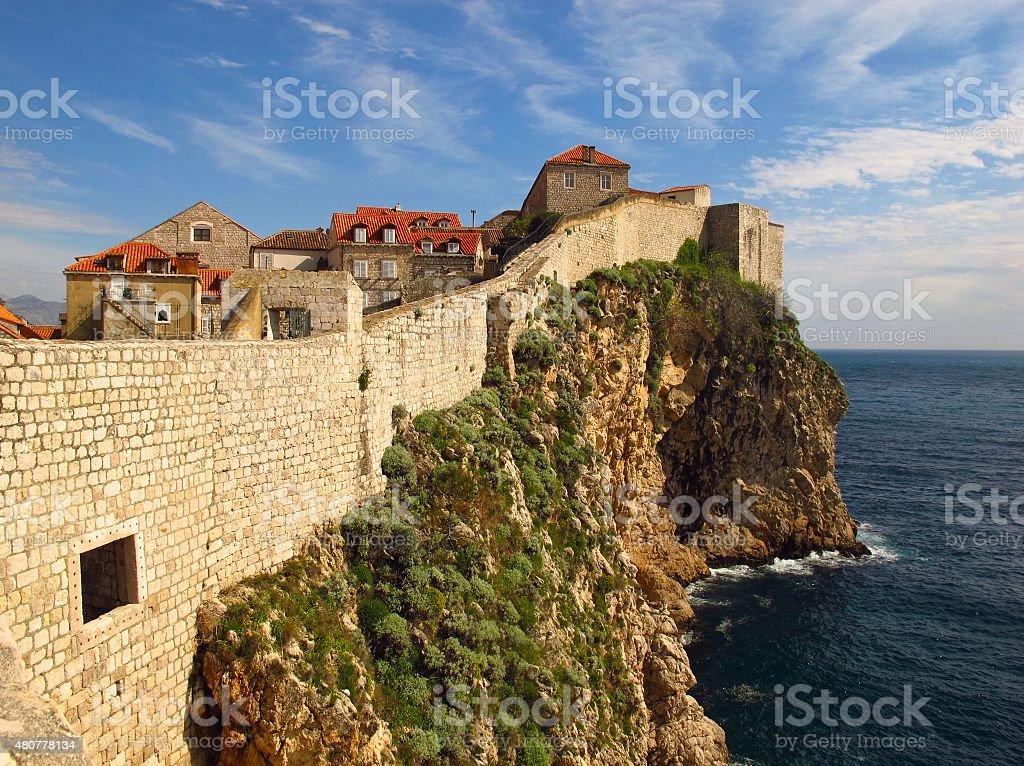 Dubrovnik Croatia city walls stock photo