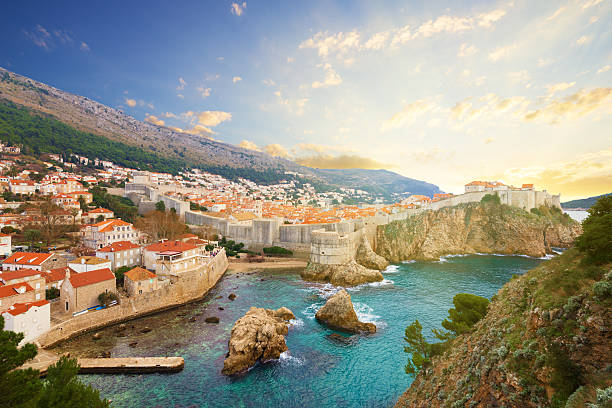 Dubrovnik. A Croácia. - foto de acervo