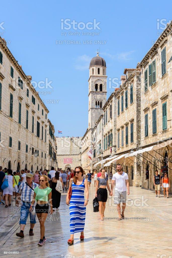 Dubrovnik, Croatia. UNESCO WOrld Heritage site stock photo