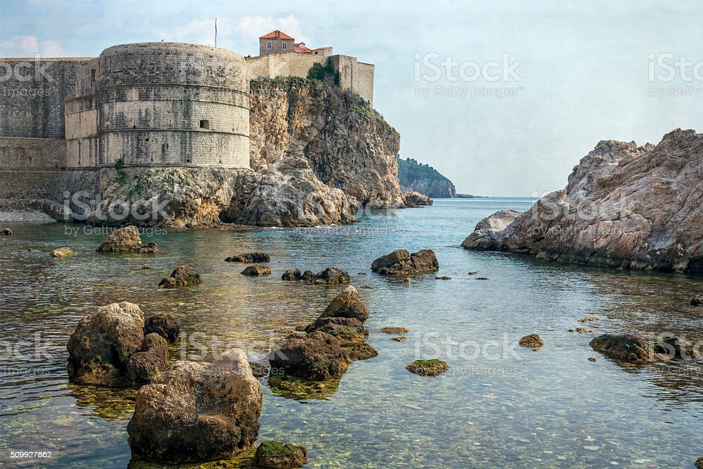 Dubrovnik Croatia Walls royalty-free stock photo