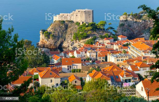 Dubrovnik. Fort St. Lawrence in the morning.