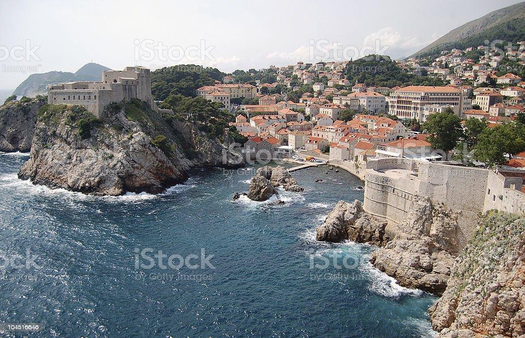 Dubrovnik, fortress Lovrijenac stock photo