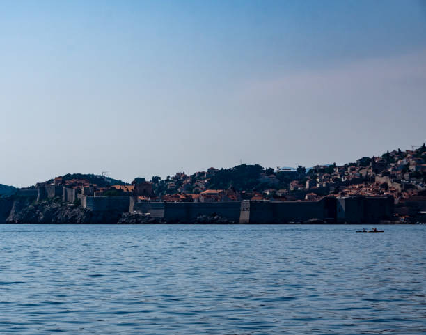 Dubrovnik from Lokrum Island stock photo