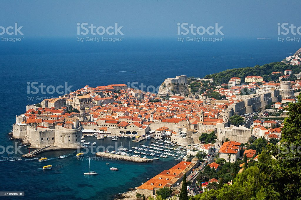 Dubrovnik in Croatia stock photo