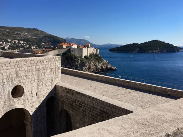 要塞 Lovrijenac、ドゥブロヴニク、クロアチアのドブロブニク旧市街 ストックフォト