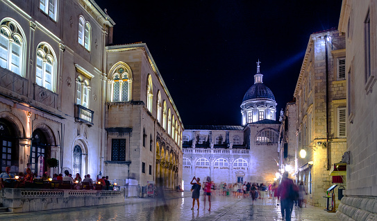 istock Dubrovnik old town at night, Croatia 1143534344