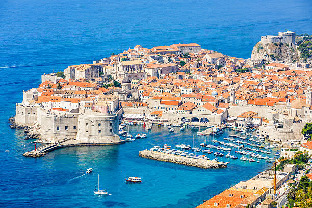 Dubrovnik old town, Croatia stock photo