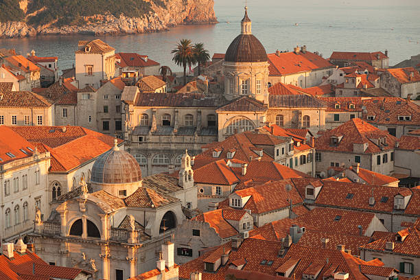 Dubrovnik Old Town Dubrovnik beautiful Old Town at sunset, Croatia old town stock pictures, royalty-free photos & images