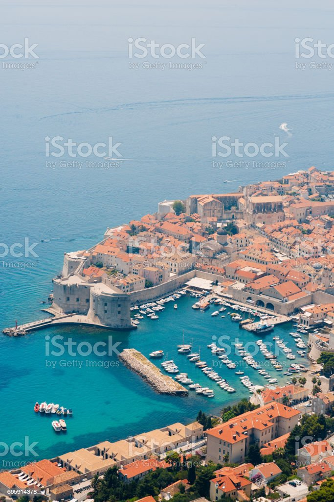 Dubrovnik Old Town view from the observation deck foto stock royalty-free