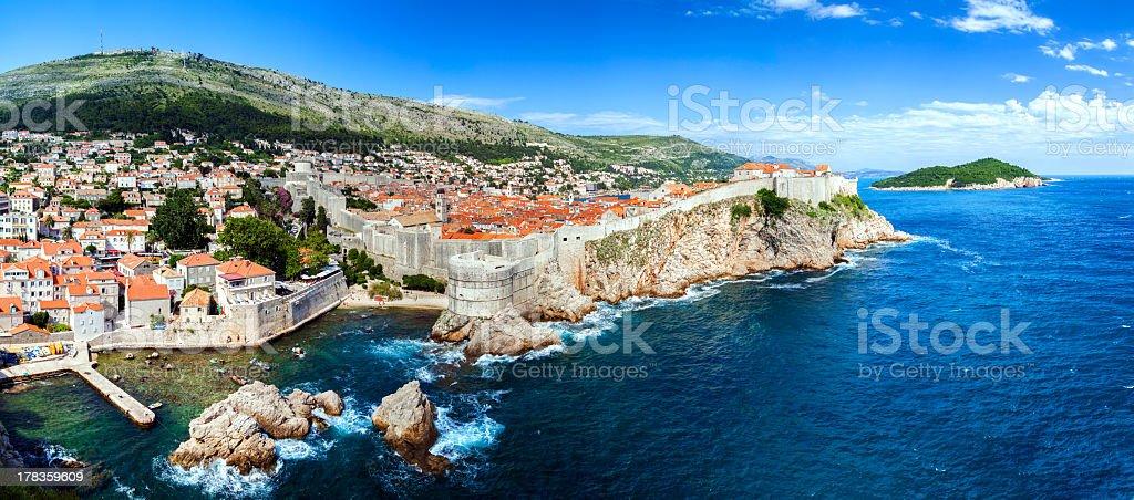 Dubrovnik panoramic view stock photo