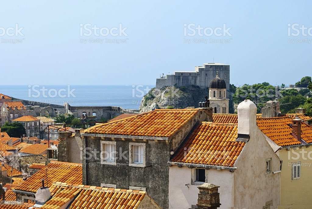 Dubrovnik Rooftops royalty-free stock photo