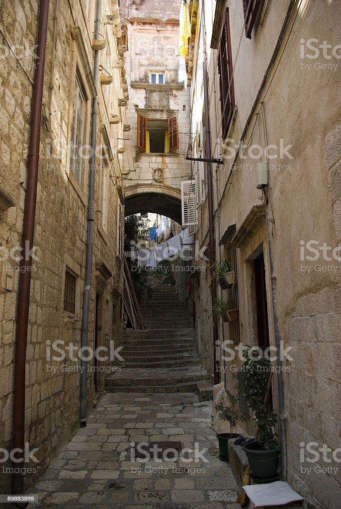 Dubrovnik street royalty-free stock photo