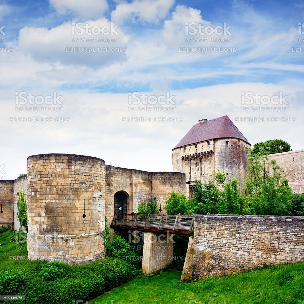 Ducal Castle of Caen, France stock photo