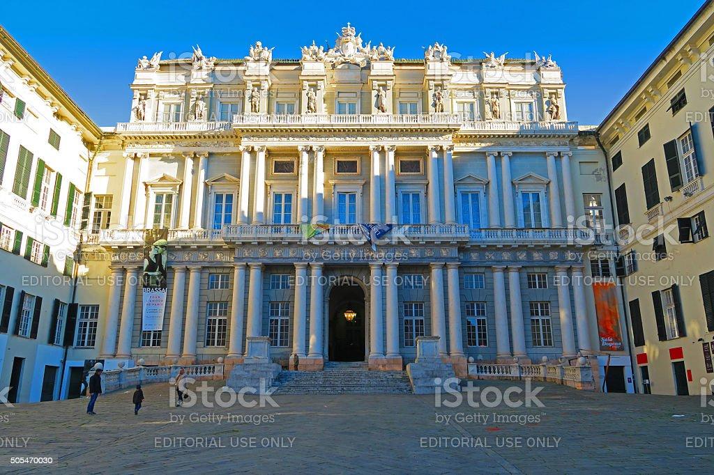 Ducal Palace in Genoa, Italy stock photo