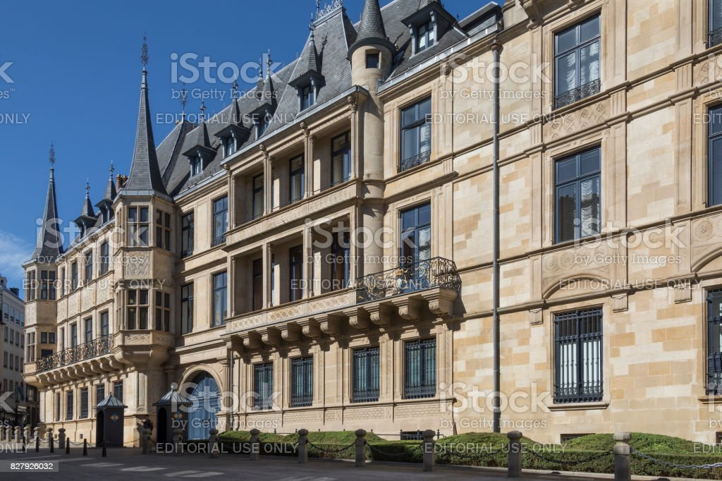 Ducal Palace - Luxembourg City - Grand Duchy of Luxembourg stock photo