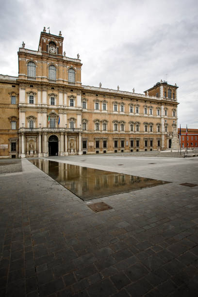 Ducal Palace, Modena, Italy Modena, Italy - March 5, 2017:  View of the Ducal Palace on Piazza Roma, Modena, Italy. piazza grande stock pictures, royalty-free photos & images