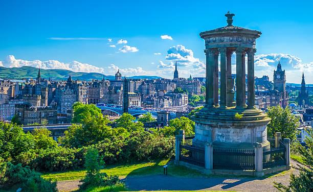 Ducald Stewart Monument on Calton Hill in Edinburgh – Foto