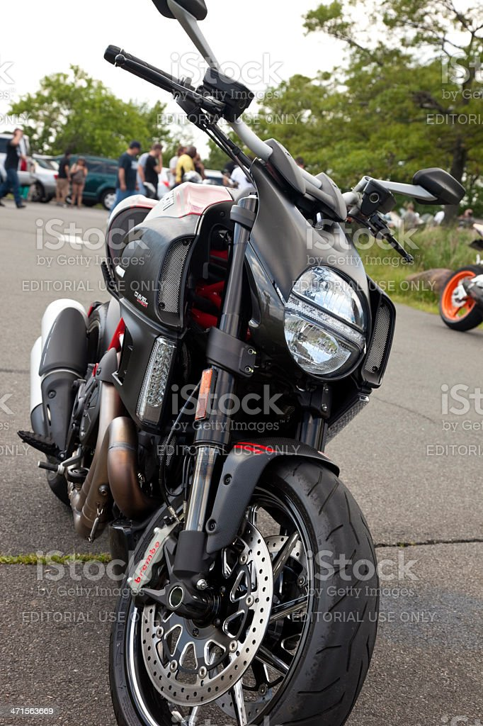 Ducati Diavel Carbon Sport Cruiser Motorcycle Stock Photo More