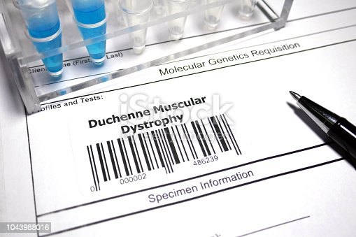 Genetic research abstract - Duchenne muscular dystrophy