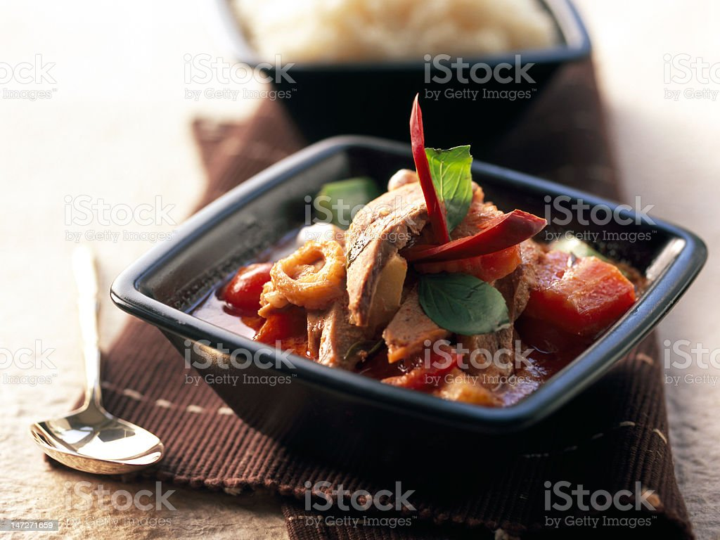 duck curry royalty-free stock photo