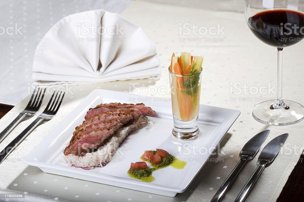 Duck dish stock photo
