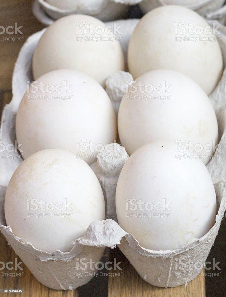 Duck Eggs in Borough Market, London royalty-free stock photo