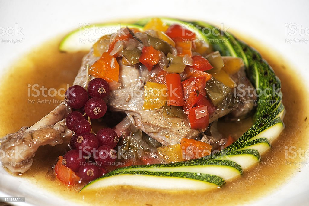 Duck with vegetables royalty-free stock photo
