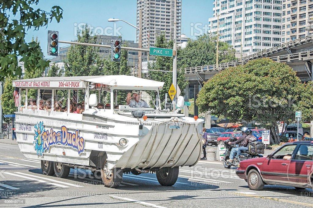 Duckboat - Seattle, Washington stock photo