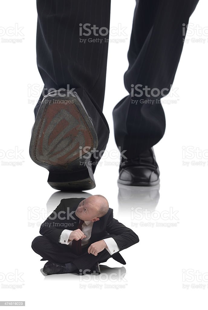 ducking for cover stock photo