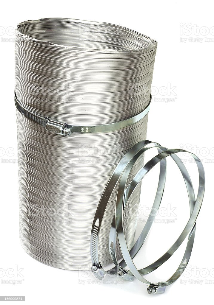 Duct and clamps stock photo