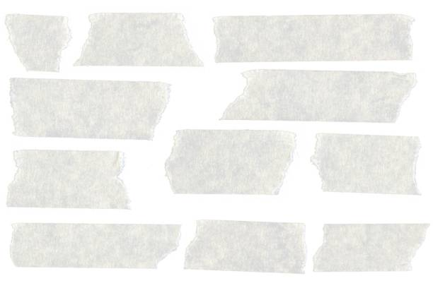 Duct Tape Collection Isolated on White - stock photo stock photo