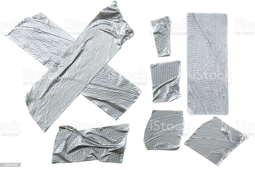 Duct Tape Pieces stock photo