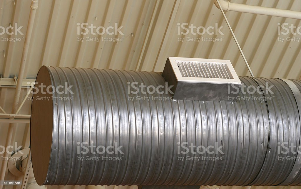 Ductwork  Air Conditioner Stock Photo