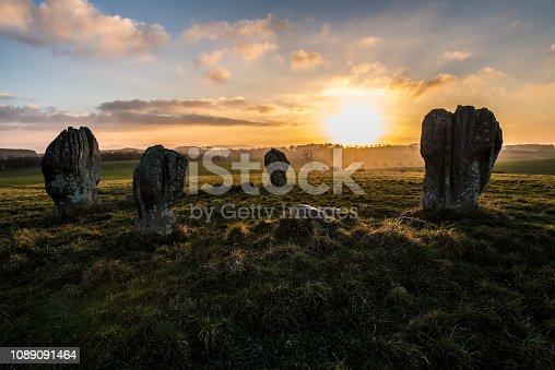 Duddo Stone Circle at Sunset