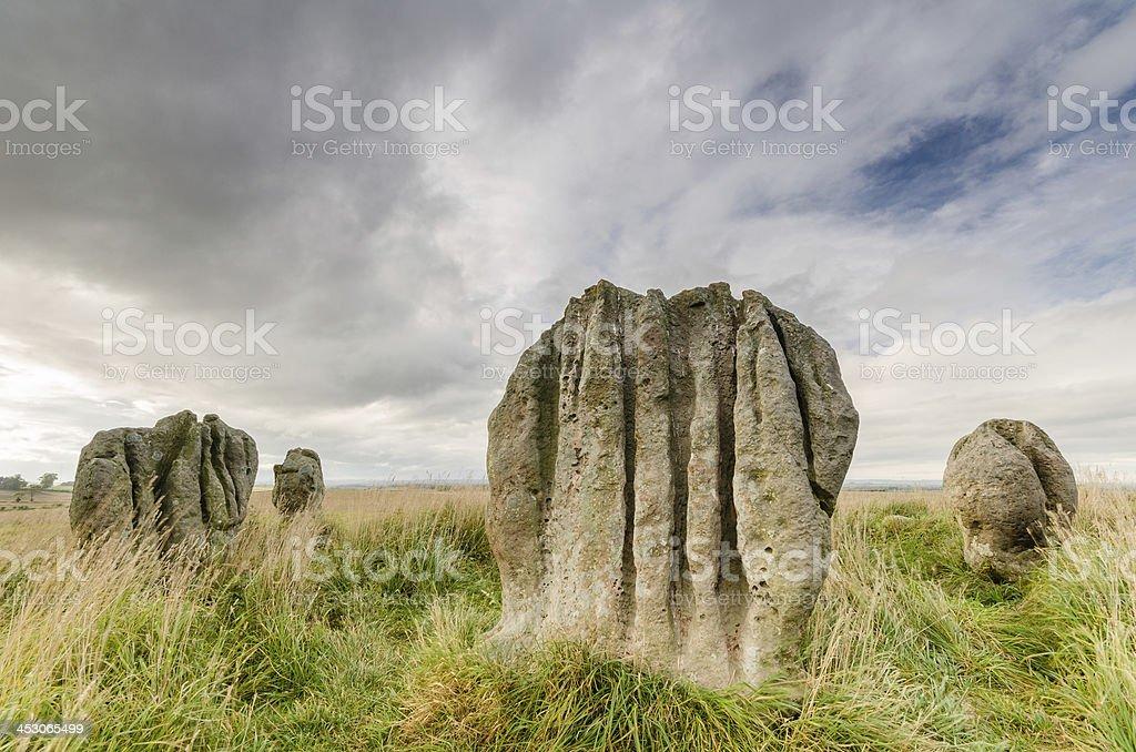 Duddo stones stock photo