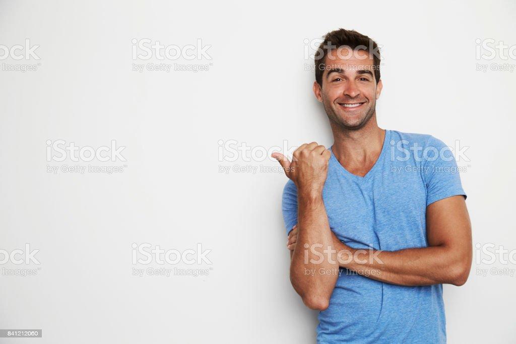 Dude gesturing stock photo