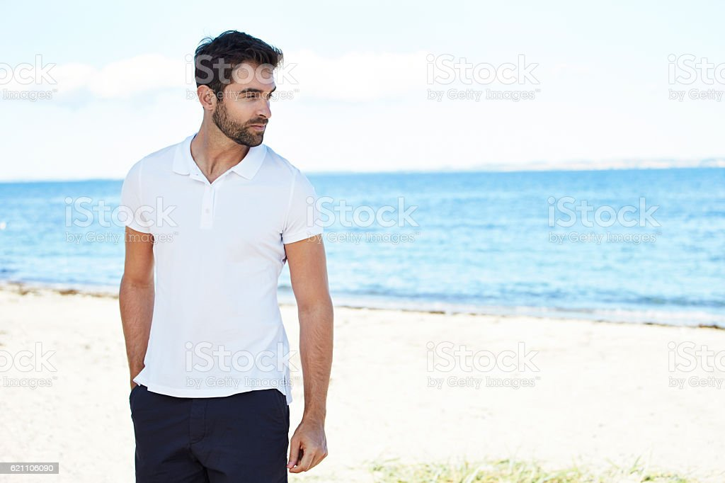 Dude on vacation stock photo