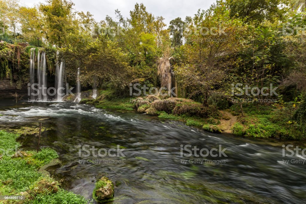 Duden waterfall in Antalya royalty-free stock photo