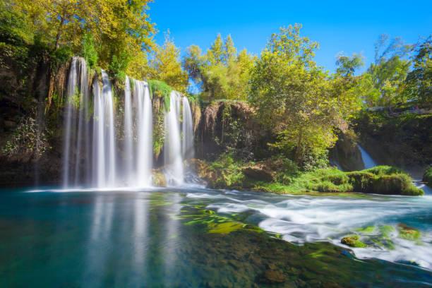 parque da cachoeira de duden em antalya - cascata - fotografias e filmes do acervo