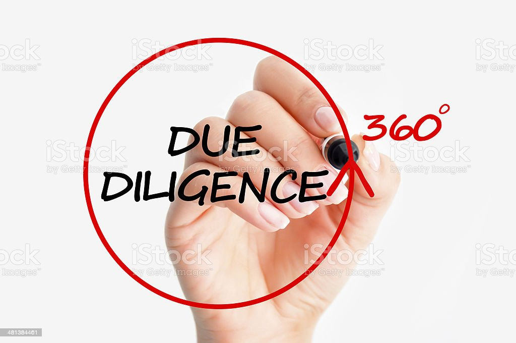 Due diligence concept stock photo
