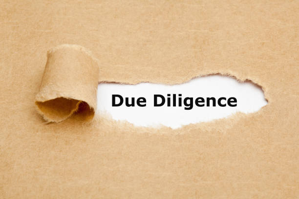 Due Diligence Risk Management Ripped Paper Concept Text Due Diligence appearing behind torn paper. Concept representing the research done before entering into an agreement or contract as a part of the risk analysis process. persistence stock pictures, royalty-free photos & images