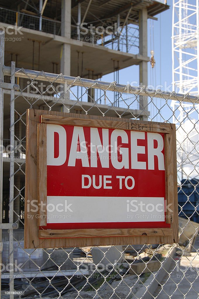 DANGER due to royalty-free stock photo