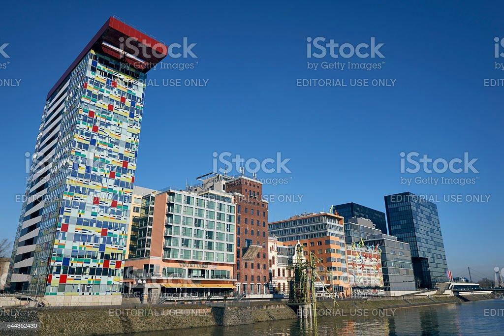 Duesseldorf Media Harbour stock photo